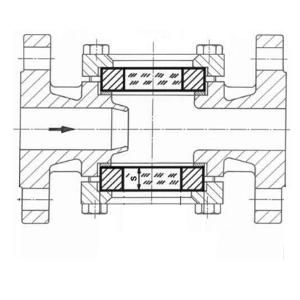 Durchfluss Schauglas mit Metaglas Typ 887