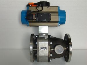 Pneumatik-Kugelhahn mit Fördermengenbeschleuniger