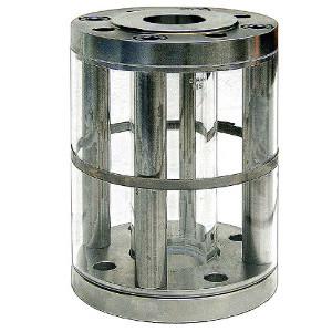 Durchfluss-Rohrschauglas mit Sicherheitsabdichtung im Kraftnebenschluß